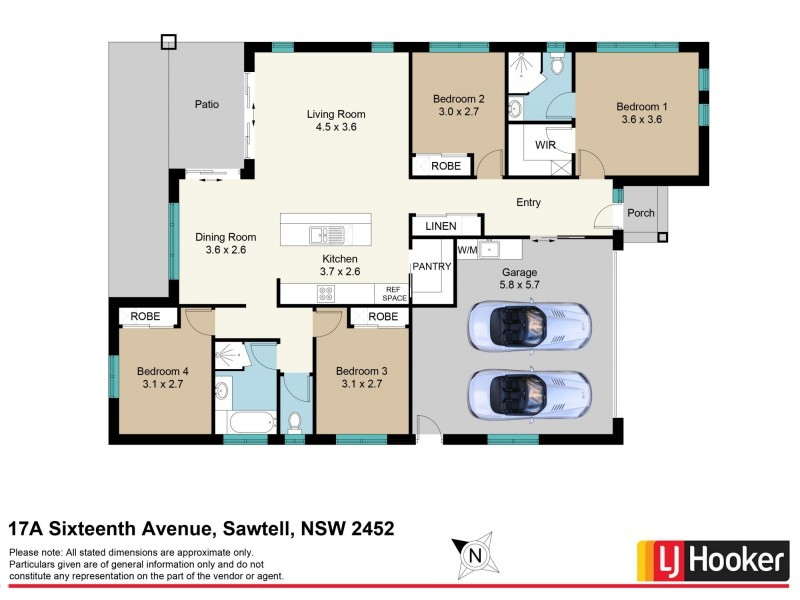 17A Sixteenth Avenue, Sawtell NSW 2452 Floorplan