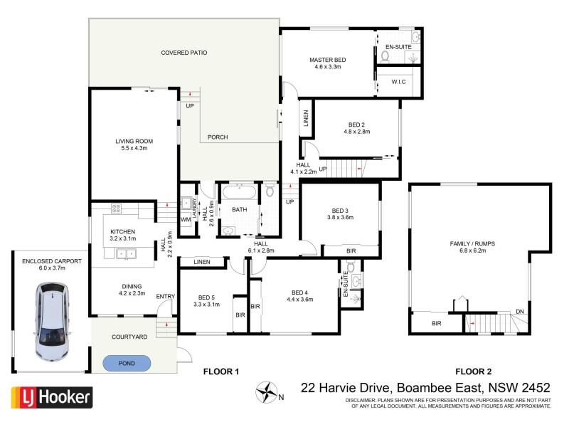 22 Harvie Drive, Boambee East NSW 2452 Floorplan