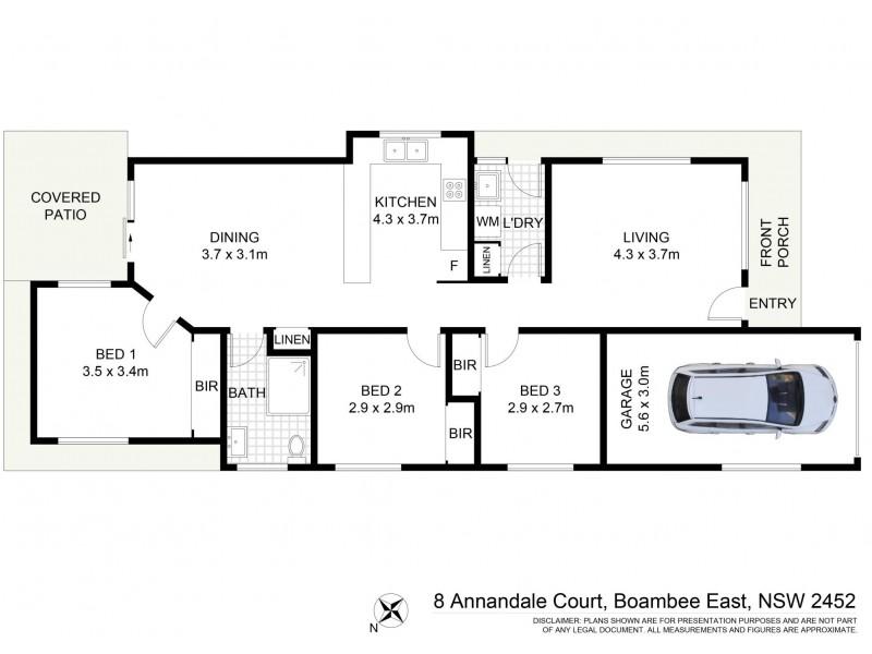 8 Annandale, Boambee East NSW 2452 Floorplan