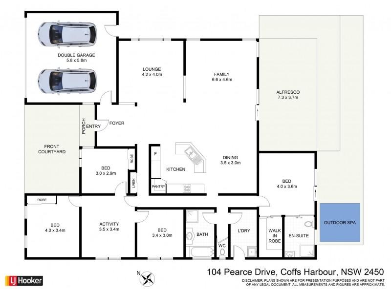 104 Pearce Drive, Coffs Harbour NSW 2450 Floorplan