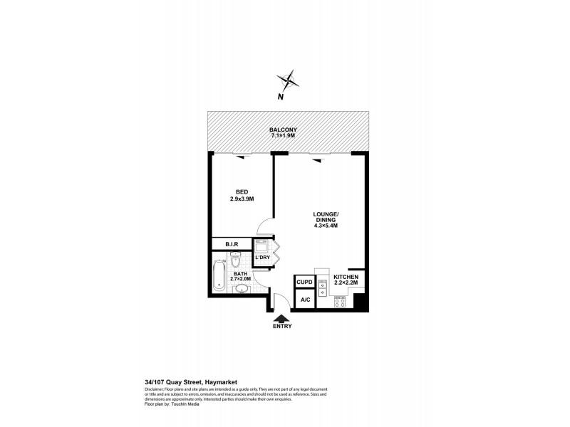 34/107 Quay Street, Haymarket NSW 2000 Floorplan