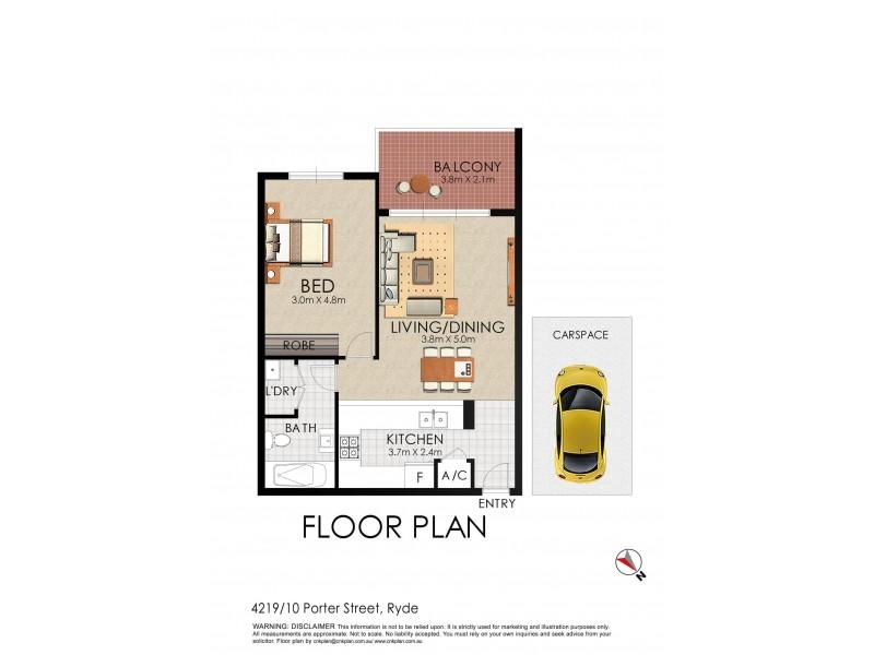 4129/10 Porter, Ryde NSW 2112 Floorplan