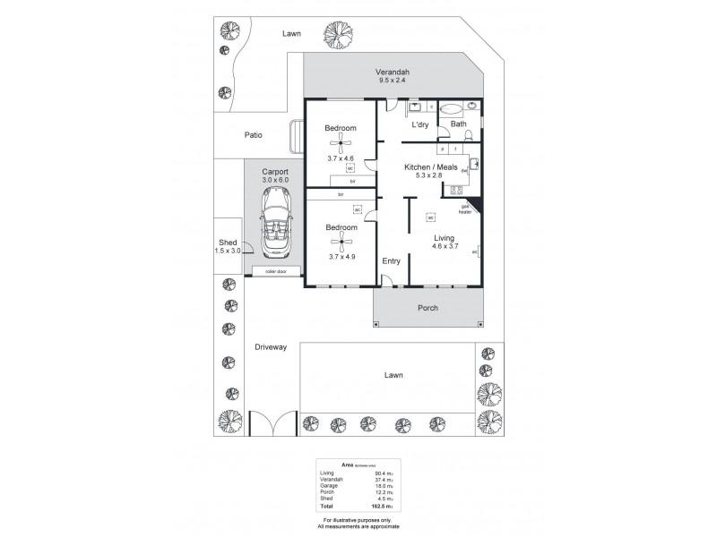 5 Branston Avenue, Devon Park SA 5008 Floorplan