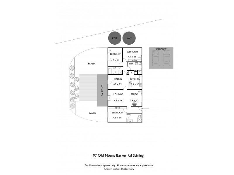 97 Old Mount Barker Road, Stirling SA 5152 Floorplan