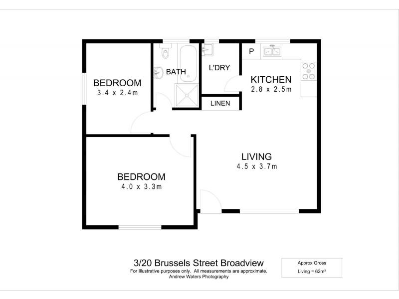 3/20 Brussels Street, Broadview SA 5083 Floorplan