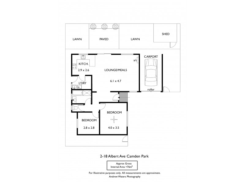2/18 Albert Avenue, Camden Park SA 5038 Floorplan