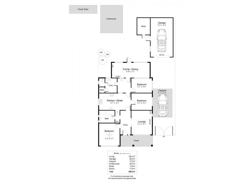 56 Days Road, Croydon Park SA 5008 Floorplan