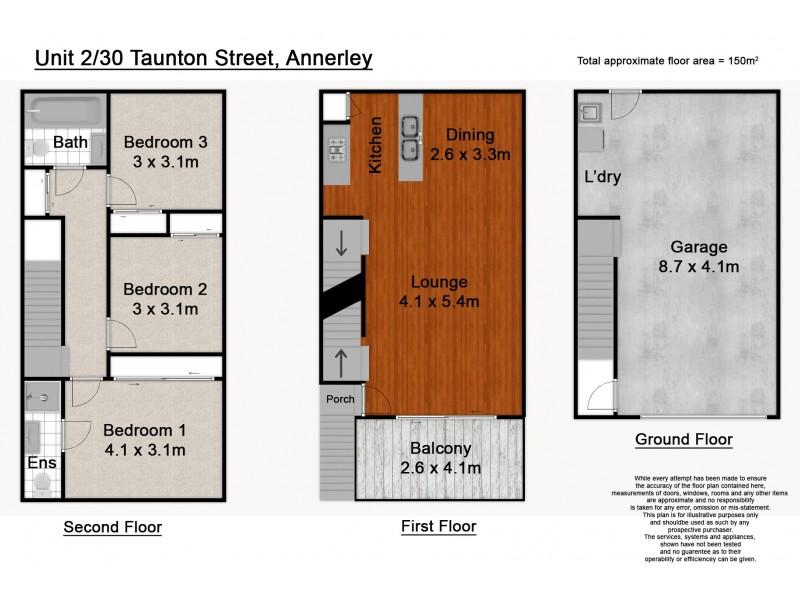 2/30 Taunton Street, Annerley QLD 4103 Floorplan