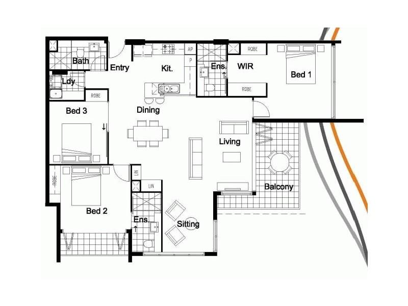 South Brisbane QLD 4101 Floorplan