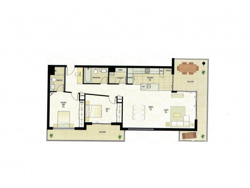 59/32 Agnes Street, Albion QLD 4010 Floorplan