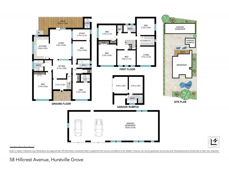 58 Hillcrest Avenue, Hurstville Grove NSW 2220 Floorplan