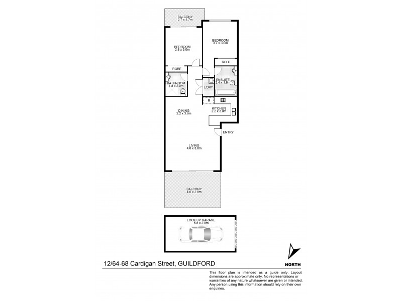 12/64-68 Cardigan Street, Guildford NSW 2161 Floorplan