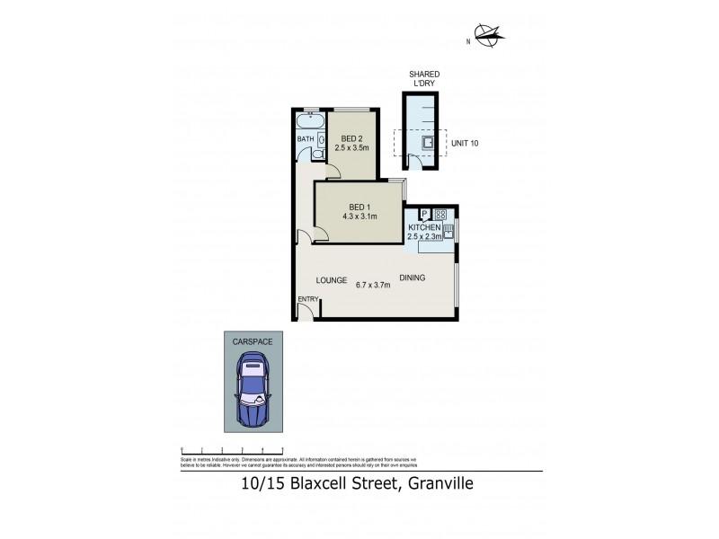 10/15 Blaxcell Street, Granville NSW 2142 Floorplan