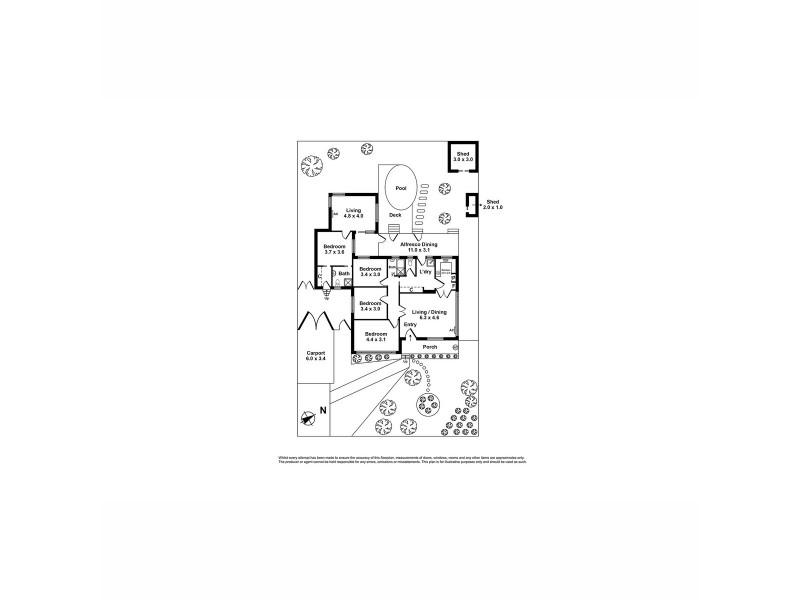 6 Kingsford Street, Laverton VIC 3028 Floorplan