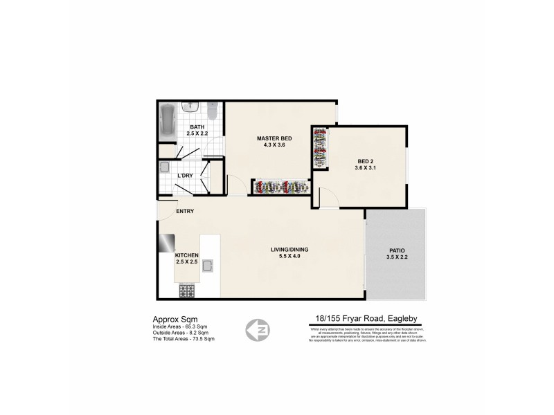 18/155 Fryar Road, Eagleby QLD 4207 Floorplan