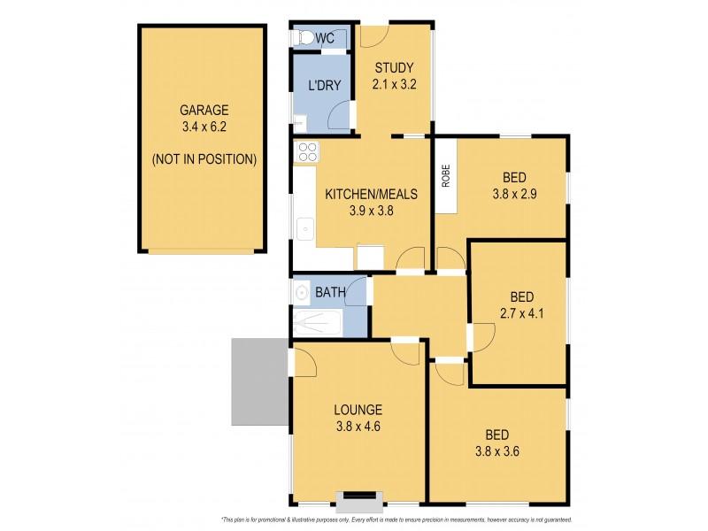 31 Wendover Avenue, Norlane VIC 3214 Floorplan