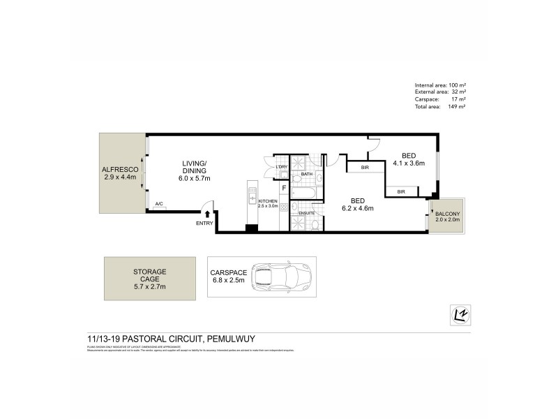 11/13-19 Pastoral Circuit, Pemulwuy NSW 2145 Floorplan
