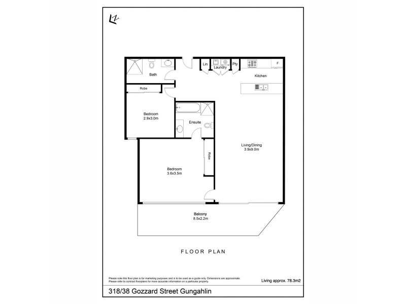 318/38 Gozzard Street, Gungahlin ACT 2912 Floorplan