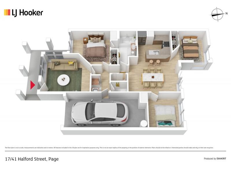 17/41 Halford Crescent, Page ACT 2614 Floorplan