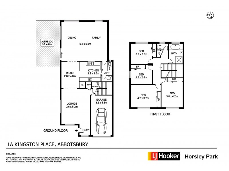 1a Kingston Place, Abbotsbury NSW 2176 Floorplan