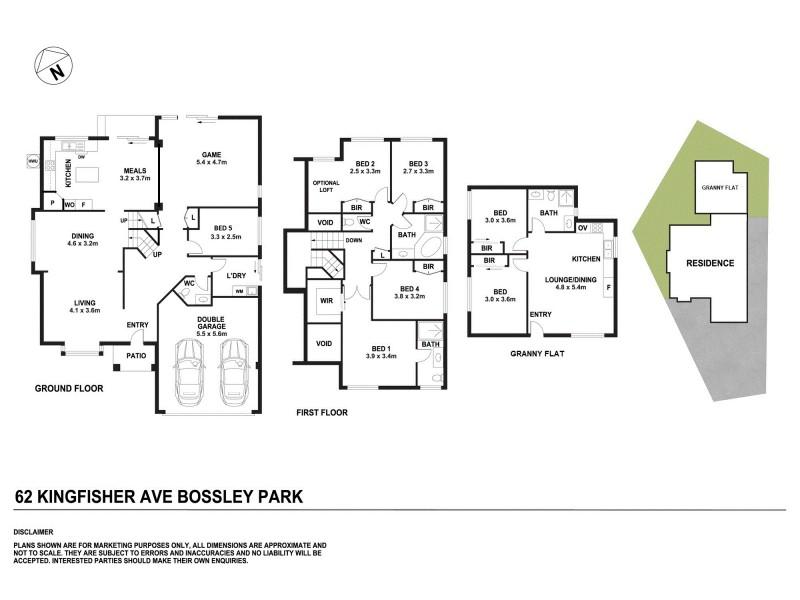 62 Kingfisher Avenue, Bossley Park NSW 2176 Floorplan