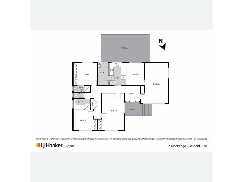 57 Mockridge Crescent, Holt ACT 2615 Floorplan
