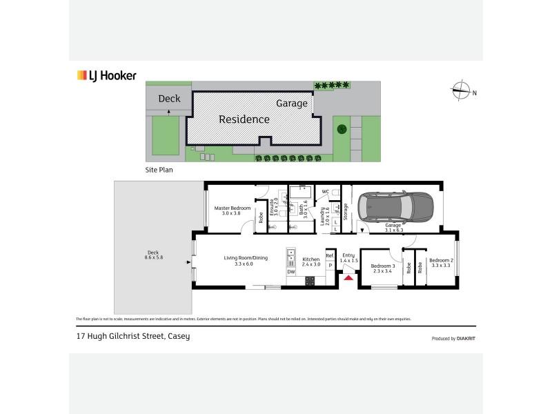 17 Hugh Gilchrist Street, Casey ACT 2913 Floorplan