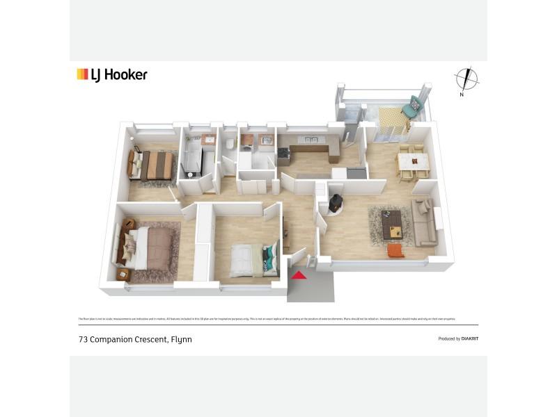 73 Companion Crescent, Flynn ACT 2615 Floorplan