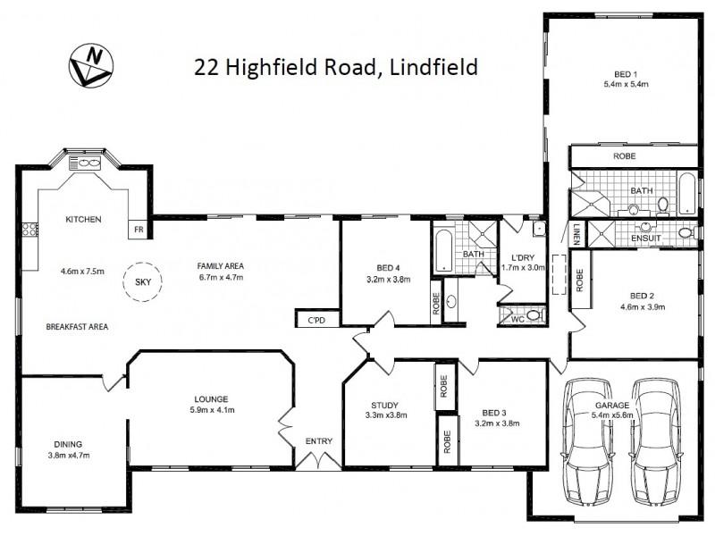 22 Highfield Road, Lindfield NSW 2070 Floorplan