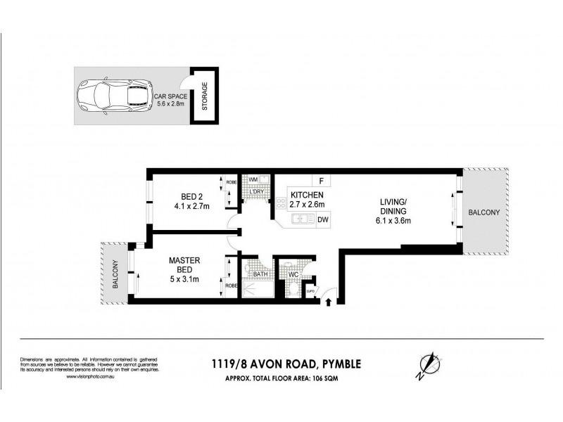 1119/8 Avon Road, Pymble NSW 2073 Floorplan