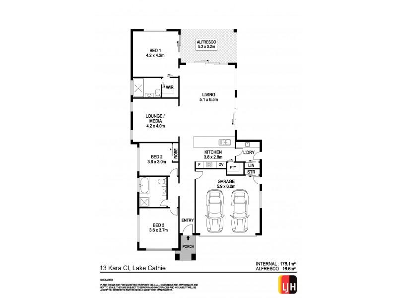 13 Kara Close, Lake Cathie NSW 2445 Floorplan