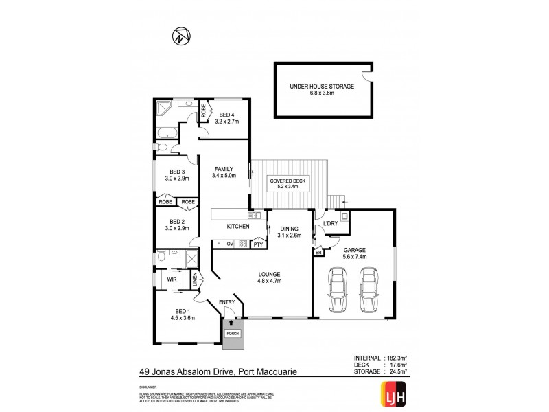 49 Jonas Absalom Drive, Port Macquarie NSW 2444 Floorplan