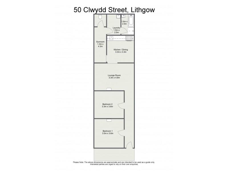 50 Clwydd Street, Lithgow NSW 2790 Floorplan