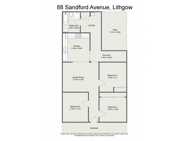 88 Sandford Avenue, Lithgow NSW 2790 Floorplan