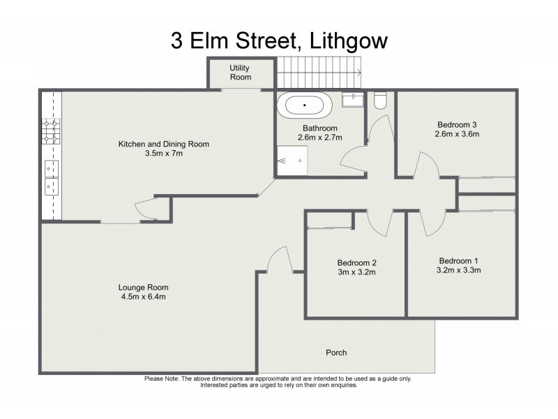 3 Elm Street, Lithgow NSW 2790 Floorplan