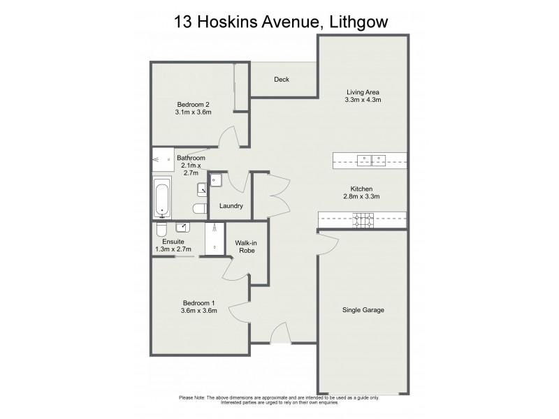 13 Hoskins Avenue, Lithgow NSW 2790 Floorplan