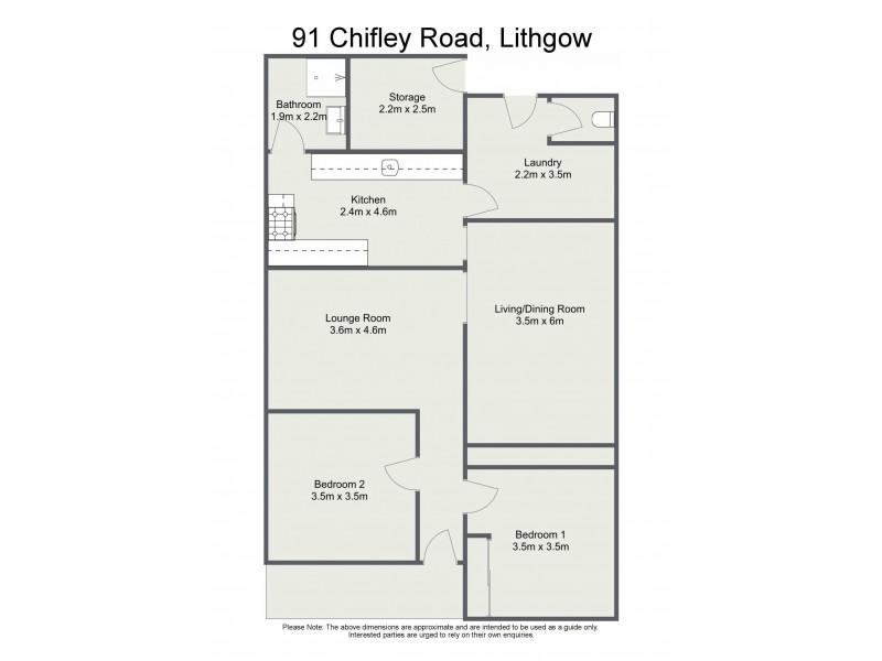 91 Chifley Road, Lithgow NSW 2790 Floorplan