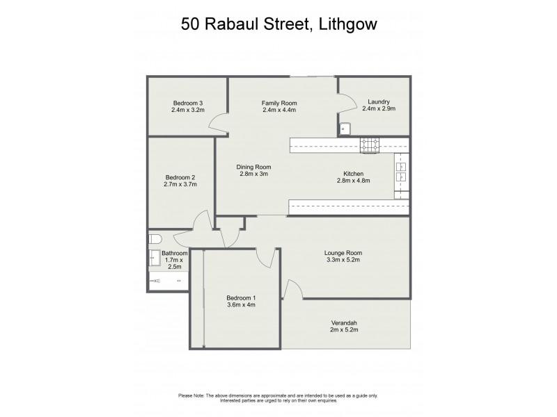 50 Rabaul Street, Lithgow NSW 2790 Floorplan