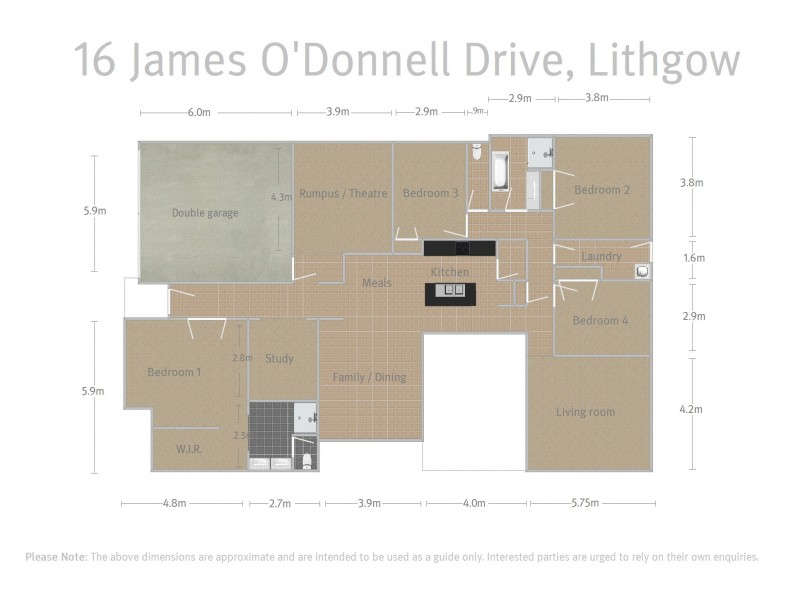 16 James O'Donnell Drive, Lithgow NSW 2790 Floorplan