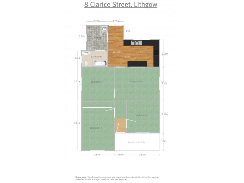 8 Clarice Street, Lithgow NSW 2790 Floorplan