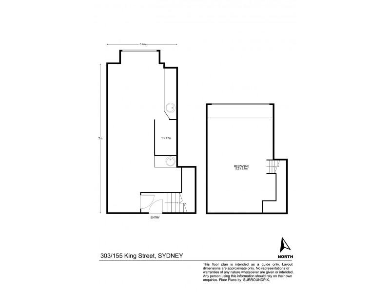 303/155 King Street, Sydney NSW 2000 Floorplan