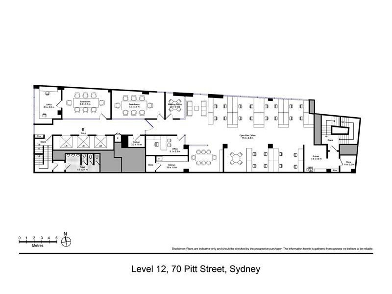 Level 12/70 Pittstreet, Sydney NSW 2000 Floorplan
