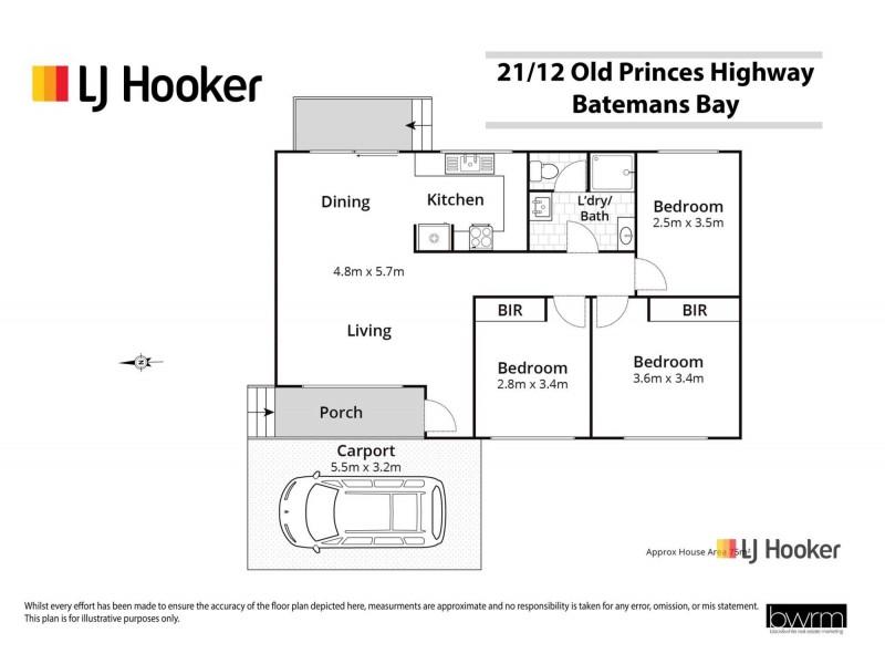 21/12 Old Princes Highway, Batemans Bay NSW 2536 Floorplan
