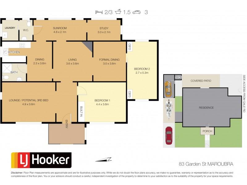 83 Garden Street, Maroubra NSW 2035 Floorplan