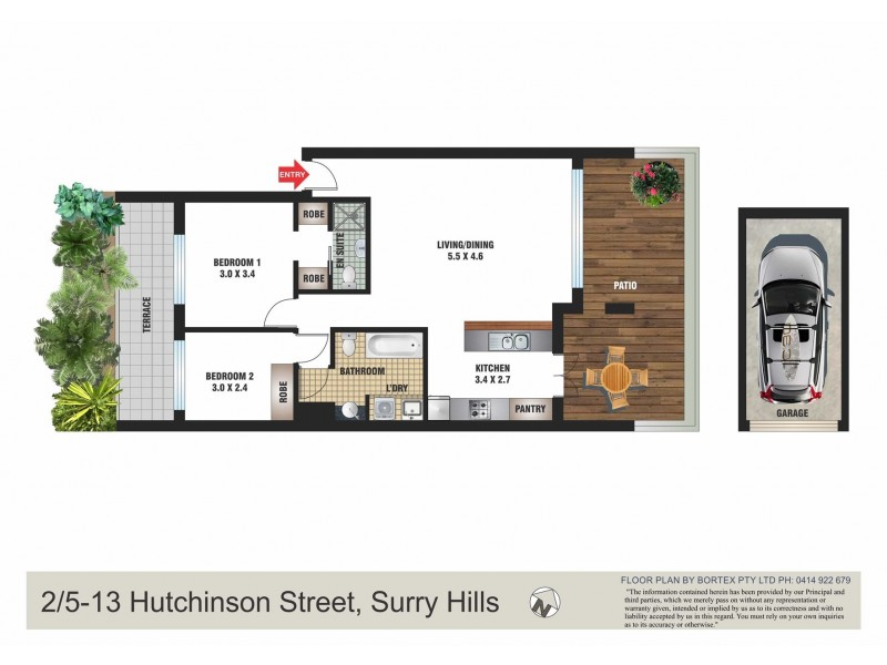 2/5-13 Hutchinson Street, Surry Hills NSW 2010 Floorplan