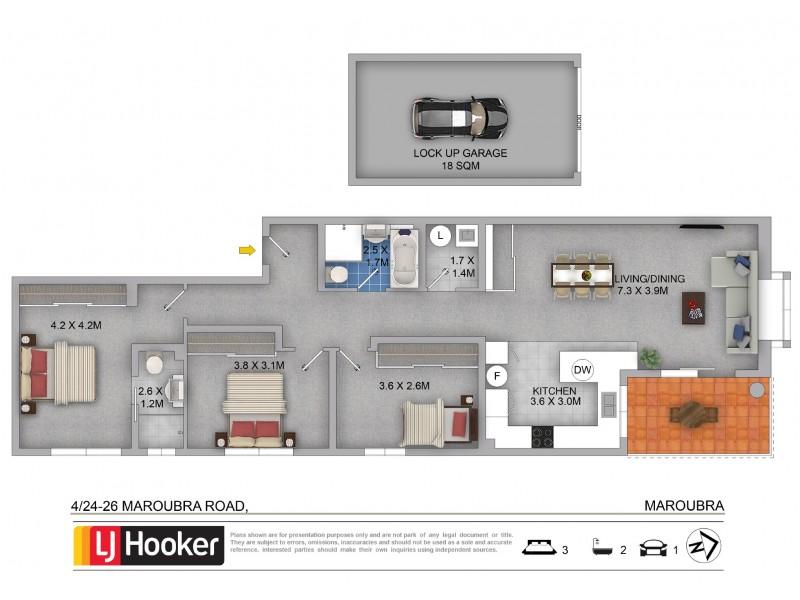 4/24-26 Maroubra Road, Maroubra NSW 2035 Floorplan