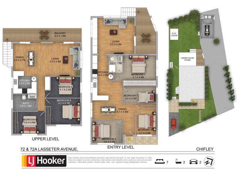 72-72A Lasseter Avenue, Chifley NSW 2036 Floorplan