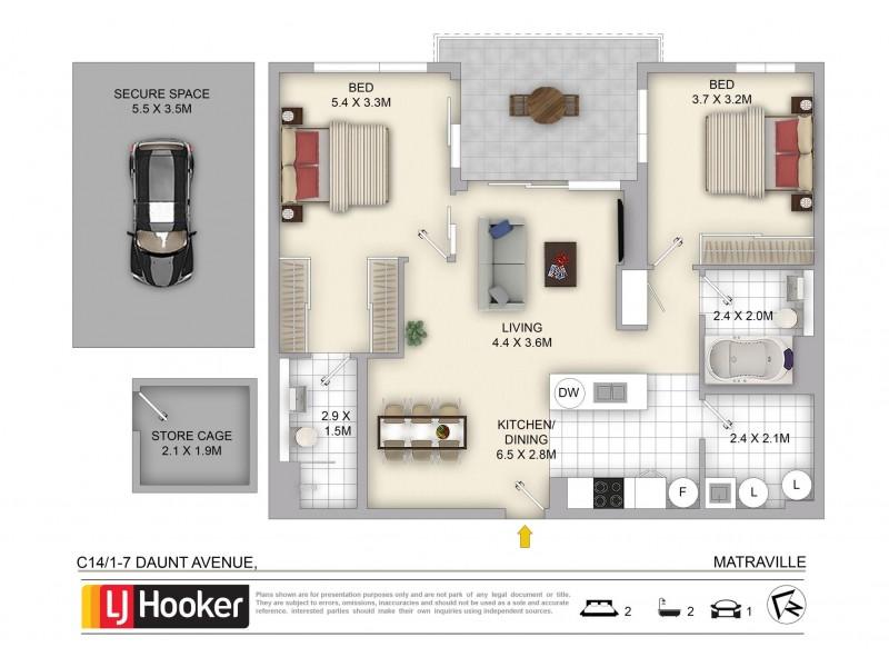 C14/1-7 Daunt Avenue, Matraville NSW 2036 Floorplan