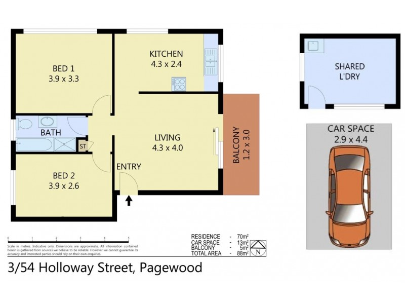 3/54 Holloway Street, Pagewood NSW 2035 Floorplan