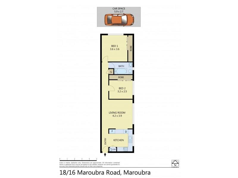 18/16 Maroubra Road, Maroubra NSW 2035 Floorplan